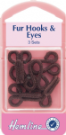 H402.BR Fur Hooks and Eyes: Brown - Size 3